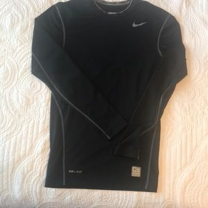 Nike pro compression shirt black small